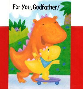 Happy Father's Day Godfather Dinosaur Dinosaurs Theme Hallmark Greeting Card