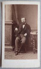 Photo Disdéri Eugène Carte de Visite Portrait Homme Vers 1860