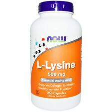 L-Lysine - 250 - 500mg Capsules by Now Foods - Essential Amino Acid