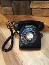 GTE Automatic Electric Telephone Black Monophone Desk Phone Rotary Dial Vintage