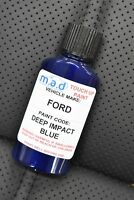 FORD DEEP IMPACT BLUE NEW TOUCH UP KIT BOTTLE BRUSH REPAIR PAINT CHIP SCRATCH