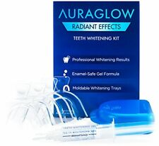 AuraGlow Radiant Effects Teeth Whitening Kit - 35% Carbamide Peroxide - 20 Tr...