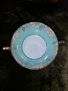 Royal Crown Derby Vine Aqua twin handled soup bowl 1960s Mint con