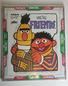 """Vintage Playskool Bert and Ernie """"WE'RE FRIENDS"""" 1976 Sesame Street Puzzle NEW!!"""