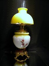 Vintage GWTW  Oil Lamp with Shade and Chimney (Electrified)