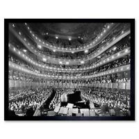 Music Metropolitan Opera House New York Auditorium 12X16 Inch Framed Art Print