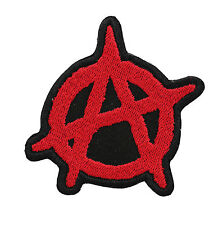 ANARCHY RED EMBROIDERY BIKER PATCH
