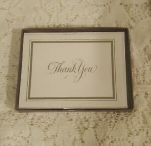 Silver & White Thank You Cards From American Greetings, Wedding, showers 10 ct