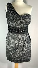 MAC DUGGAL COUTURE Party Wedding Guest Cocktail Cruise Dress Grey/Black 10