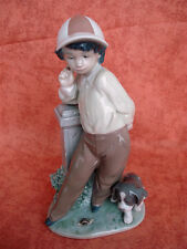 LLADRO Figurine 5738 Best Foot Forward - Boy with dog and snail - Mint - No box