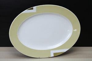 Rosenthal Bvlgari Geometrica Beige Servierplatte oval 40x30cm, 2. Wahl