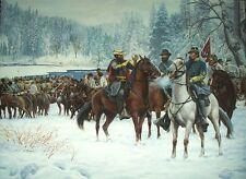 """""""The Christmas Raid"""" Don Stivers Civil War Artist Proof Print - J.E.B. Stuart"""