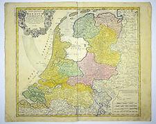 NIEDERLANDE AMSTERDAM BENTHEIM KOL KUPFERSTICH KARTE HOMANN 1748 #D825S
