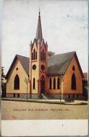 Moline, IL 1910 Postcard: Swedish Methodist Episcopal Church - Illinois Ill