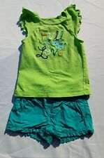 Crazy 8 Elephant Island Shirt Shorts Size 2T Set Outfit Full Of Love