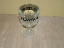 Vintage Playboy Dimpled Goblet Glass