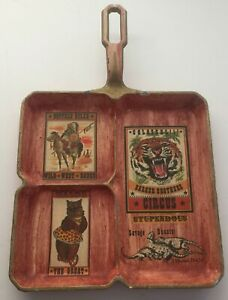 Griswold Vintage Fry Pan Wall Hanging Breakfast Skillet 666B Hand Painted