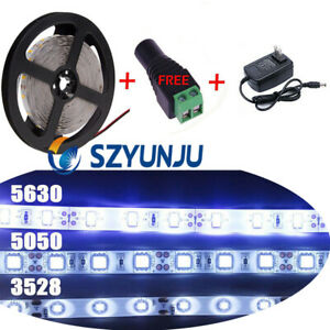 12V 5M LED Flexible Strip Light SMD 3528 5050 5630SMD 300 LED +DC +Power Supply