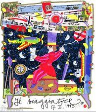FRANCESCO MUSANTE - IL VIAGGIATORE -  NUOVA 2014 serigrafia CONF REGALO