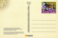 Latvia 2015 - Postcard No 49 - Insect - Wasp - Flowers - London (unaddressed pc)