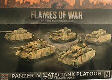 15mm  Flames of War German Panzer iv (Late) Tank Platoon