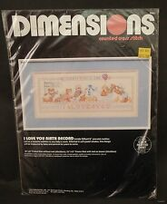 Dimensions Counted Cross Stitch I Love You Birth Record Kit