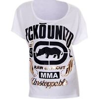Ecko MMA Ladies Raw & Uncut T Shirt MMA UFC Fight Wear