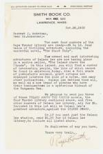 1932 letter to FORREST ACKERMAN from Smith Book Co about the BOYS WONDER LIBRARY