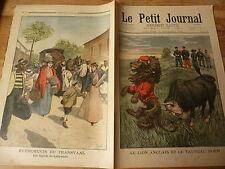 PETIT JOURNAL- 1899 N° 470 lion anglais taureau boer / Ladysmith fugitifs 2
