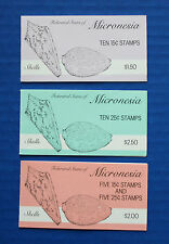 Micronesia - 1989 Shells MNH booklet set