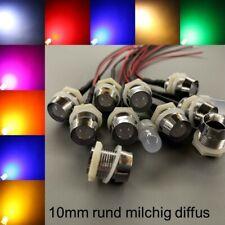 verkabelt 10mm LEDs milchig diffus Fassungen 10 mm LED Widerstände Schrauben