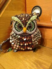 """MARY FRANCES """"Night Owl"""" Beaded Bag Evening Purse Collector Fall Colors"""