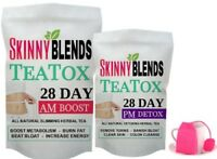 28 DAY SKINNY TEATOX - FAT BURNING DETOX TEA WEIGHTLOSS TEA & FREE TEA INFUSER!