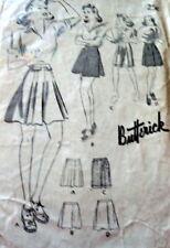Lovely Vtg 1940s Shorts Butterick Sewing Pattern Waist 26