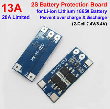 2S 13A 7.4V 8.4V 18650 Li-ion Lithium Battery BMS Charger Protection PCB Board