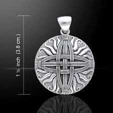 Courtney Davis Cross of St. Brigid .925 Sterling Silver Pendant Peter Stone