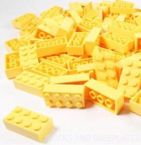 LEGO BRICKS 200 x YELLOW 2x4 Pin - Taken From Brand New Sets