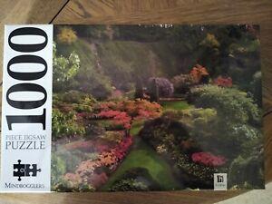 Mindbogglers 1000 Piece Jigsaw Puzzle. Ornamental Garden. still sealed