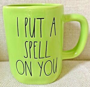 "NEW Rae Dun  ""I PUT A SPELL ON YOU"" Green Mug Halloween New"
