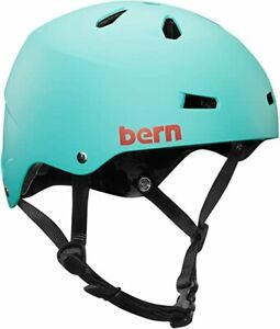 HELMET BIKE SKATE SCOOTER GIRLS TURQOISE MEDIUM BERN MACON 55.5-  57 CM