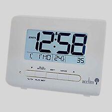 Acctim 71532 Monza Radio Controlled LCD Alarm Clock, White