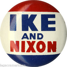 1952 Dwight IKE Eisenhower AND Richard NIXON Logo Button (2819)