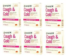 Cough & Cold HBP Antihistamine Suppressant Tablets 16ct 6 pack (96 Tabs)