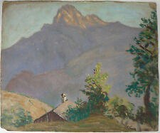 Disegno Olio MARTHA PREGANDO c.1920/1930 Paesaggio Montagna Quadro #3