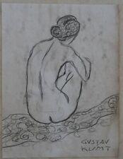 Pencil drawing signed GUSTAV KLIMT