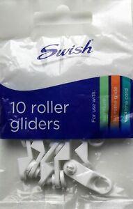Swish Supreme Glide Superluxe Supreme Cord Track Roller Gliders Hooks PK10 Swish