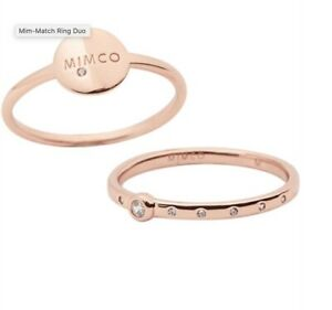 Mimco mim matching duo rose gold ring size small