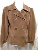 Women's St Johns Bay Brown Button Up Cotton Coat/Jacket/Blazer Size Medium