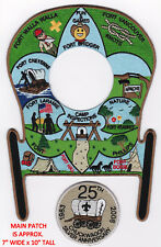 BOY SCOUT PATCH - SAMOSET COUNCIL - RIB MT. DIST - 2008 CHUCKWAGON - 25TH ANNUAL