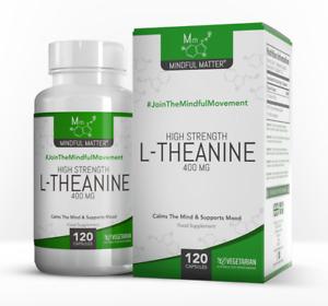 L-Theanin | 120 Vegetarisches Kapseln | Fördert Entspannung & Mentale Klarheit